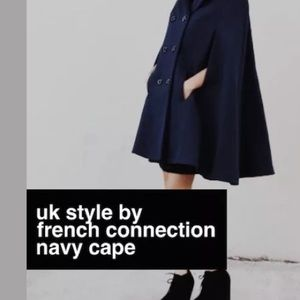👜 French connection brown cape coat size M